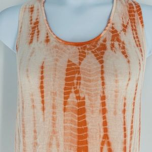 Tie DyeBathing Suit Cover Up Tank Twisted Back Lg.